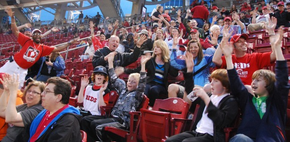 Seeing The Roar Of The Crowd At Reds Game Benefiting The Deaf Community