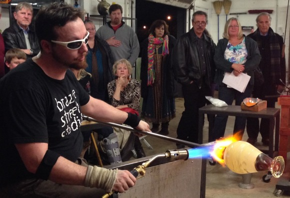Glassblowers Create Art For Alzheimer's