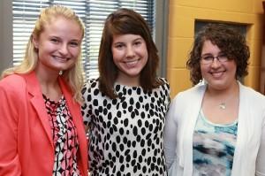 Josie Ridgeway-Rader, Eleni Balli and Jessica Littrell