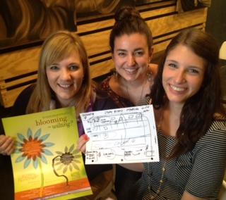 Purple Ribbon Council executive director Donna Bartos and ASU students Shannon Oliver and Samantha Sidoti.