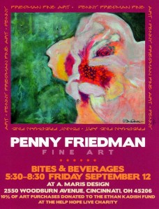 This poster for the Fine Art Show/benefit Sept. 12 features the art work of Penny Friedman